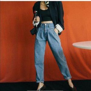 RE/DONE Savi Dusty Worn High Rise Ballon Jeans 26